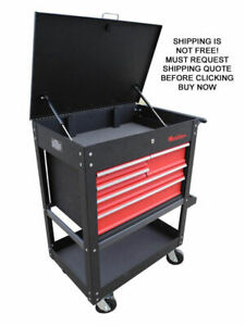 New Redline Re tc327 Roll Cart Toolbox Tool Box Shelf Drawer Lock Storage Mobile