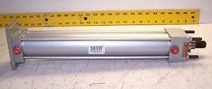 New Sheffer 2 Bore 12 Stroke Pneumatic Cylinder 3 8 Ports 1 Rod Dia