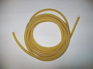 50 Continuous Feet 3 8 I d X 1 16 W X 1 2 O d Latex Rubber Tubing Amber