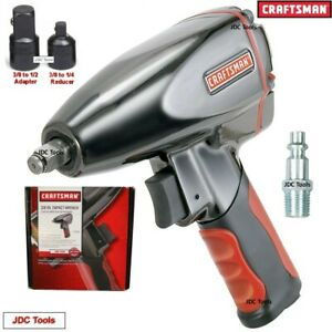 Craftsman 3 8 Drive Air Impact Wrench W 1 2 And 1 4 Adapters 3 Tools In 1