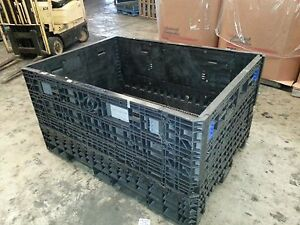 64x48x34 Pallet Box Storage Container Automotive Bin Collapsible Ropak Knockdown