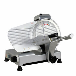Electric Commercial Butcher Deli Meat Cheese Bread Slicer 10 Blade Saw Machine