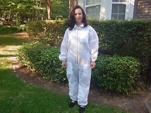 Fully Ventilated Beekeeping Suit W hood Size Large Outstanding Quality