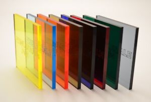 Genuine Coloured Tinted Perspex Cast Acrylic Sheet 3mm Thick Order Your Own Size