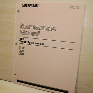 Cat Caterpillar 963 Track Loader Maintenance Lubrication Manual Crawler Book