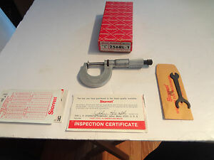Starrett 0 1 256rl Disc Type Micrometer New
