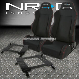 Nrg 2 Type r Red Stitches Racing Seats bracket For 02 06 Mit Lancer evo 8 Ct9a