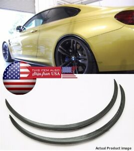 1 X Pair Black Carbon 1 Flexible Arch Wide Fender Extension Guard Lip For Ford