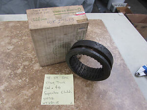 Nos 1948 59 Gmc And Chevy Truck 3rd 4th Synchro Clutch Sleeve Wt250 15