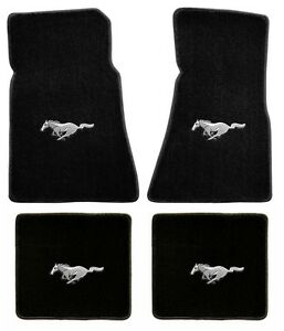 New Floor Mats 1965 1973 Ford Mustang 4pc Set Coupe Fastback Black Tan Red