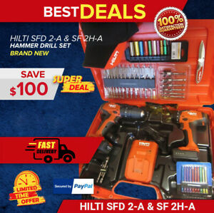 Hilti Sfd 2 a Sf 2h a Drill Complete Kit Newest Model Durable Fast Shipping
