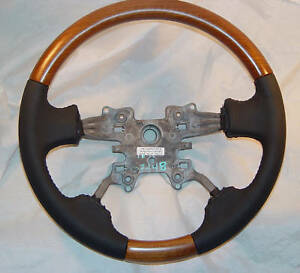 Range Rover Sport L320 2006 2013 Walnut Wood Steering Wheel Custom