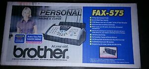 Brand New Sealed Brother Fax 575 Plain Paper Fax Phone Copier usa Retail
