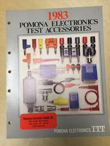 1983 Itt Pomona Electronics Catalog Test Equipment Accessories Probes Cords