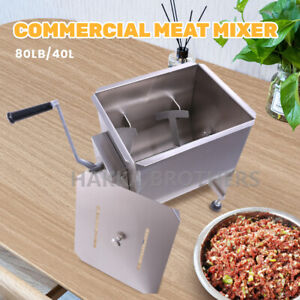 Hakka 80 Pound 40 Liter Capacity Tank Commercial Manual Meat Mixers Fme40
