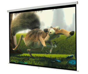 New 119 Manual Pull Down Projector Screen 84 x84 Projection Home Movie Theater