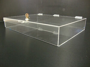 Acrylic Countertop Display Case 19 X 13 X 3 Locking Security Show Case Safe B
