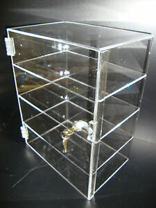 Acrylic Countertop Display Case 12 X 8 X 16 Locking Security Show Case Safe B
