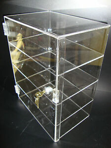 Acrylic Countertop Display Case 12 X 9 1 2 X 16 Locking Security Show Case Bo