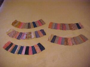 30 Quilt Strips Ovals For Double Wedding Ring
