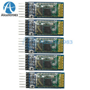 5pcs Wireless Serial 6 Pin Bluetooth Rf Transceiver Module Hc 05 Rs232