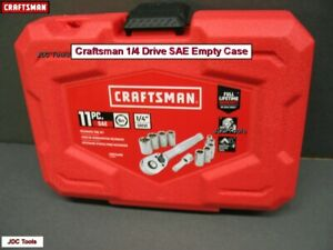 Craftsman Tool Case Empty For 1 4 Drive Sae Sockets And Ratchet Wrench