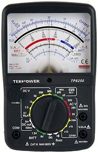Tekpower Tp8250 Ac dc Analog Multimeter With Null Middle Position 0