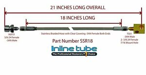 Stainless Steel Braided Rear Brake Hose 3 16 Tube With Tee 3an 3an 21 Long