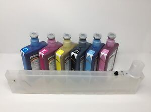 6 Jetbest Eco Solvent Ink 500ml 12 Refillable Cart For Roland Xc Sc Sj Xj