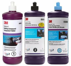 3m Perfect it Buffing Compound Polishing Kit 06085 06094 06068 6085 6094 6068
