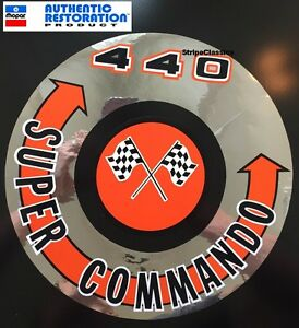 1966 67 68 69 1970 Plymouth 440 Super Commando Air Cleaner Decal Mopar New