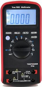 Tekpower Tp40 6000 Counts True Rms Digital Ac dc Auto Range Digital Multimeter