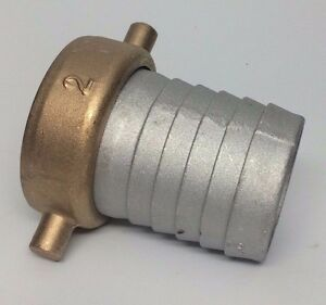 2 Pin Lug Water Hose Fitting Dredge Highbanking Gold Panning Sluicing Npt