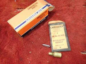 Nos Carter Afb 1957 62 Cadillac 1961 65 Buick Needle And Seat Package 25 343s