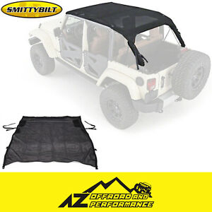Smittybilt Mesh Extended Top Black Mesh For 2007 2009 Jeep Wrangler Jk 4 Door