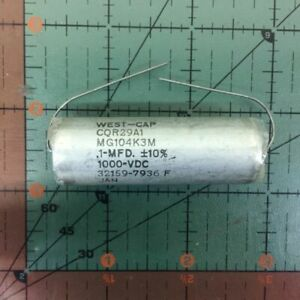 West Cap Axial Film Capacitor 0 1uf 1000v Cqr29a1mg104k3m 1uf Mil Audio