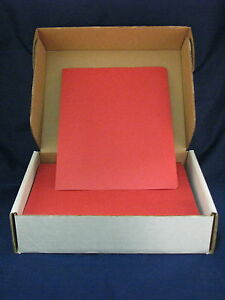 Gbc Velobind Presentation Covers Red Grain 2000021 Box Of 200 New 8 75 X 11 25