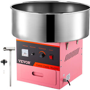 Vevor 1030w Electric Commercial Cotton Candy Machine Floss Maker Pink
