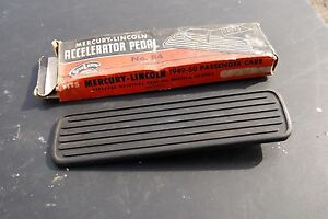 1949 50 Mercury Lincoln Nos Rubber Gas Petal In Original Box Nice