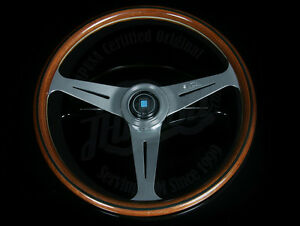 Nardi Classic Wood Steering Wheel Polished Spokes Horn Button 360mm