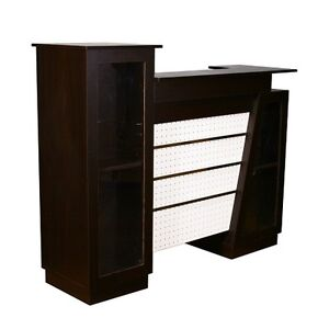 Reception Counter Desk Retail Store Display Fixture Ships Knockdown Cherry New