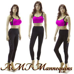 Female Mannequin Display Sexy Manquin Head Rotate dress Form Manikin sp22 2wigs