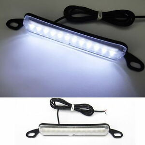 White Bolt On 12 Led License Plate Light Universal Fit 12v Car Truck Suv Trailer
