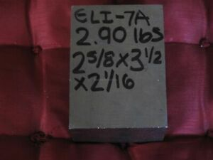 Medical Grade Eli Titanium 6al 4v 2 5 8x3 1 2x2 1 16 2 9 Lb Bar Plate sheet