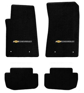 New Black Floor Mats 2010 2015 Camaro Embroidered Block Letters