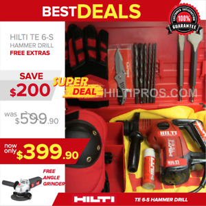 Hilti Te 6 s Preowned Free Bits Chisels Excellent Condition Fast Shipping