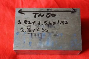 Titanium 6al 4v 3 82 X 2 56 X 1 53 2 37 Lbs Bar Plate Sheet Showing Grain