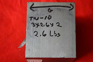 One Titanium 6al 4v 3 X 2 6 X 2 2 6 Lbs Bar Plate Sheet Showing Grain