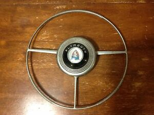 1946 48 Plymouth Special Deluxe Steering Wheel Horn Ring Complete Oem