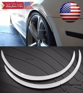 1 Pair White 1 Flexible Arch Wide Fender Flares Extension Guard Lip For Ford
